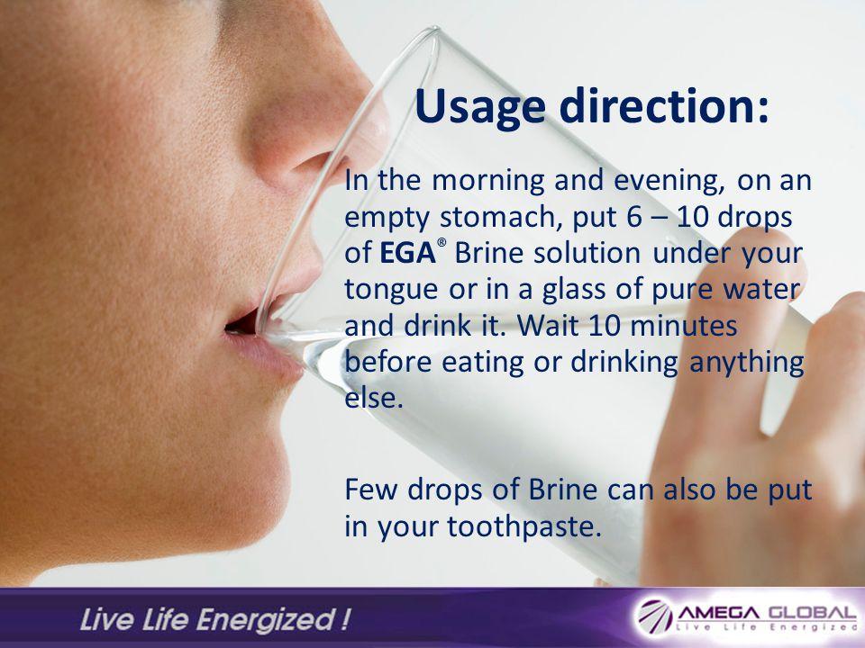 Usage direction: