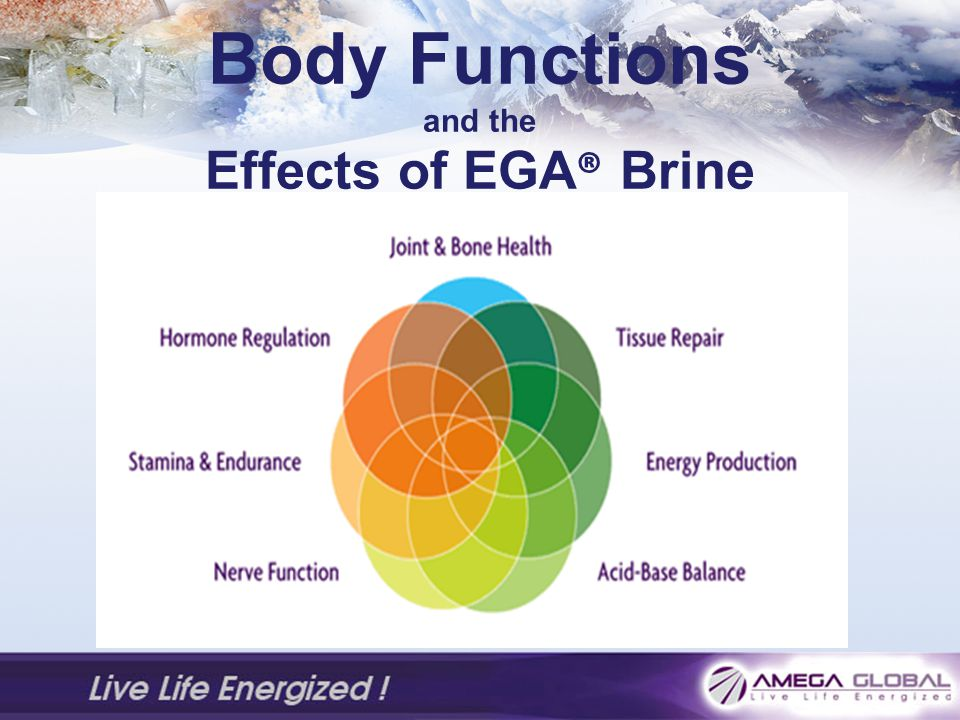 Body Functions and the Effects of EGA® Brine