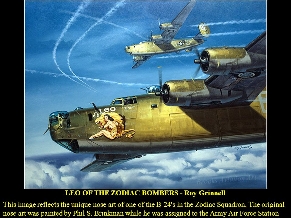 LEO OF THE ZODIAC BOMBERS - Roy Grinnell
