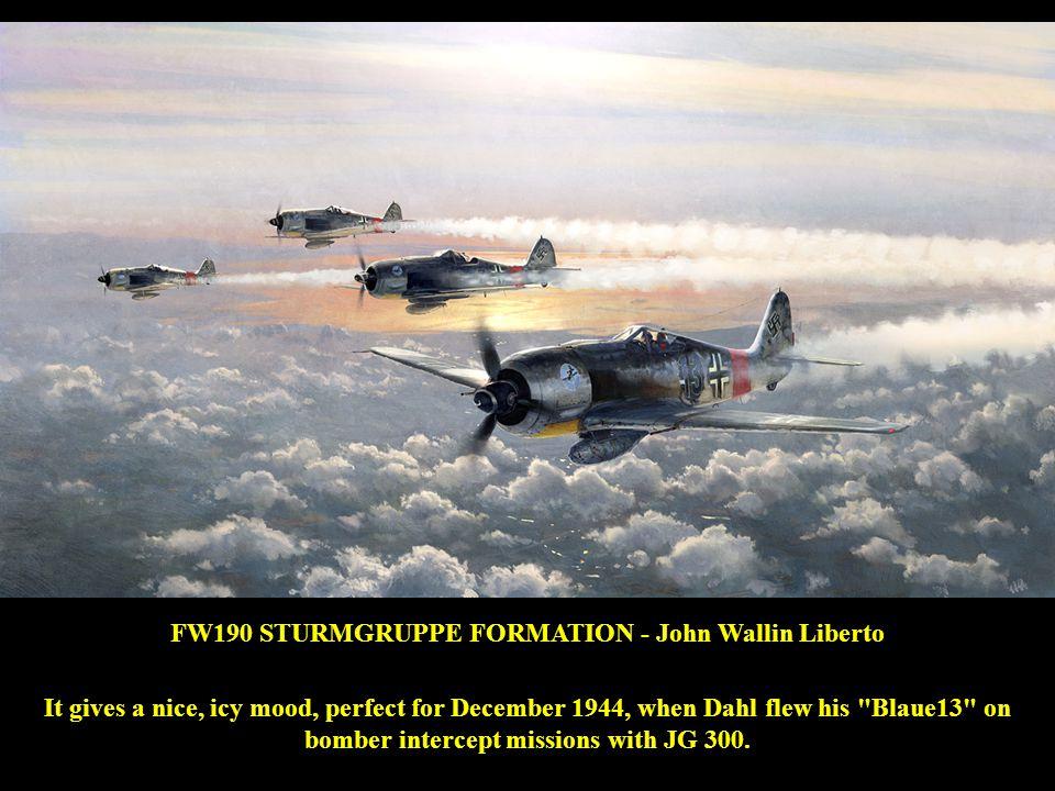 FW190 STURMGRUPPE FORMATION - John Wallin Liberto