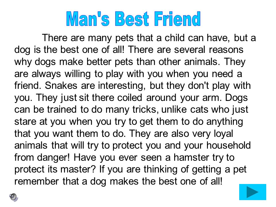 Man s Best Friend