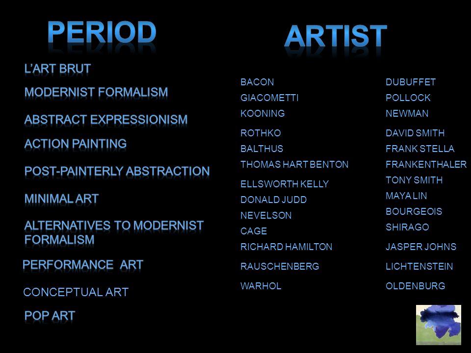 Period artist L'Art Brut MODERNIST FORMALISM Abstract Expressionism