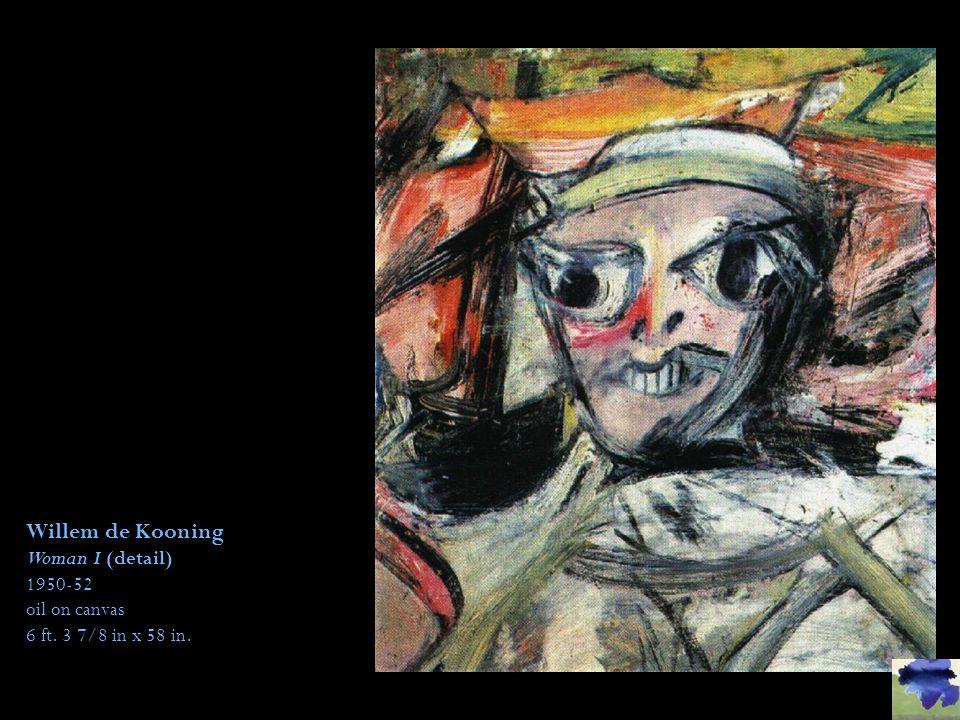 Willem de Kooning Woman I (detail)