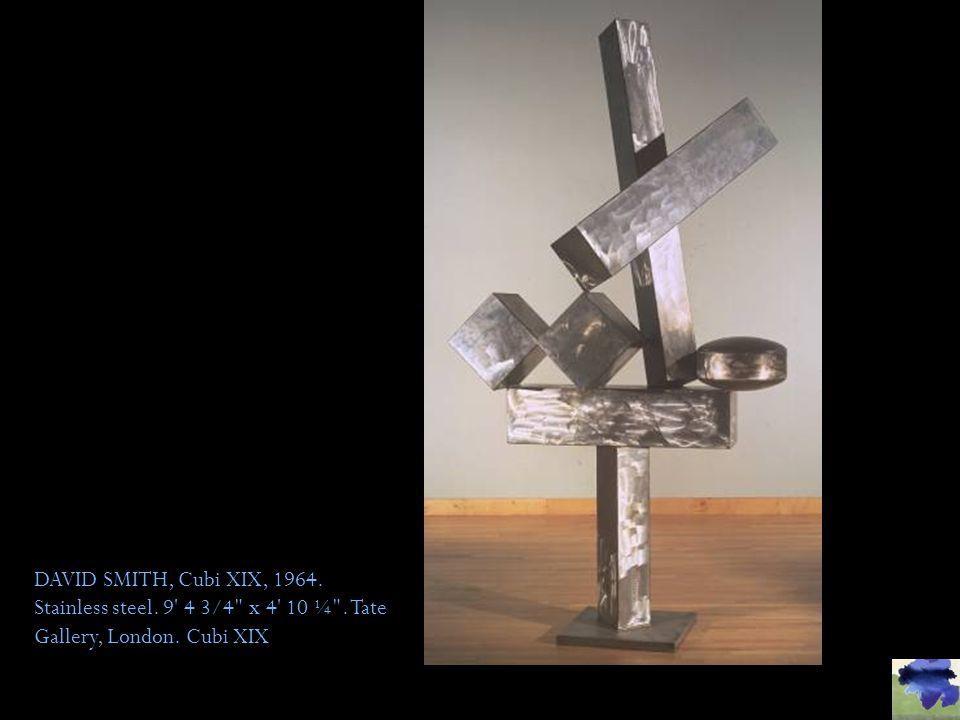 DAVID SMITH, Cubi XIX, 1964. Stainless steel. 9 4 3/4 x 4 10 ¼