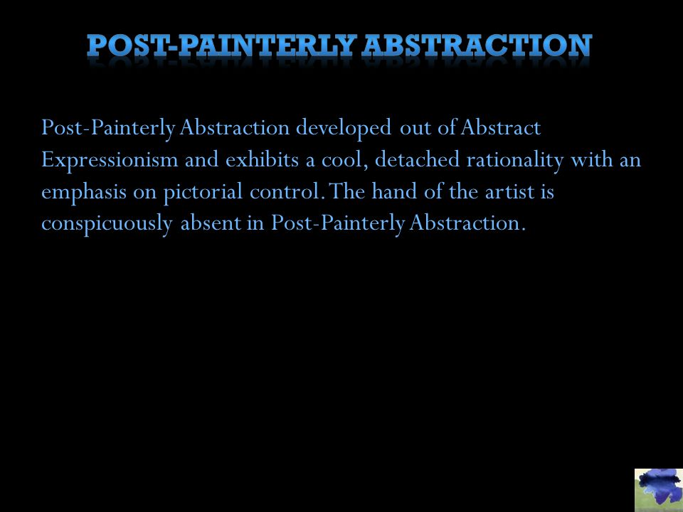 Post-Painterly abstraction