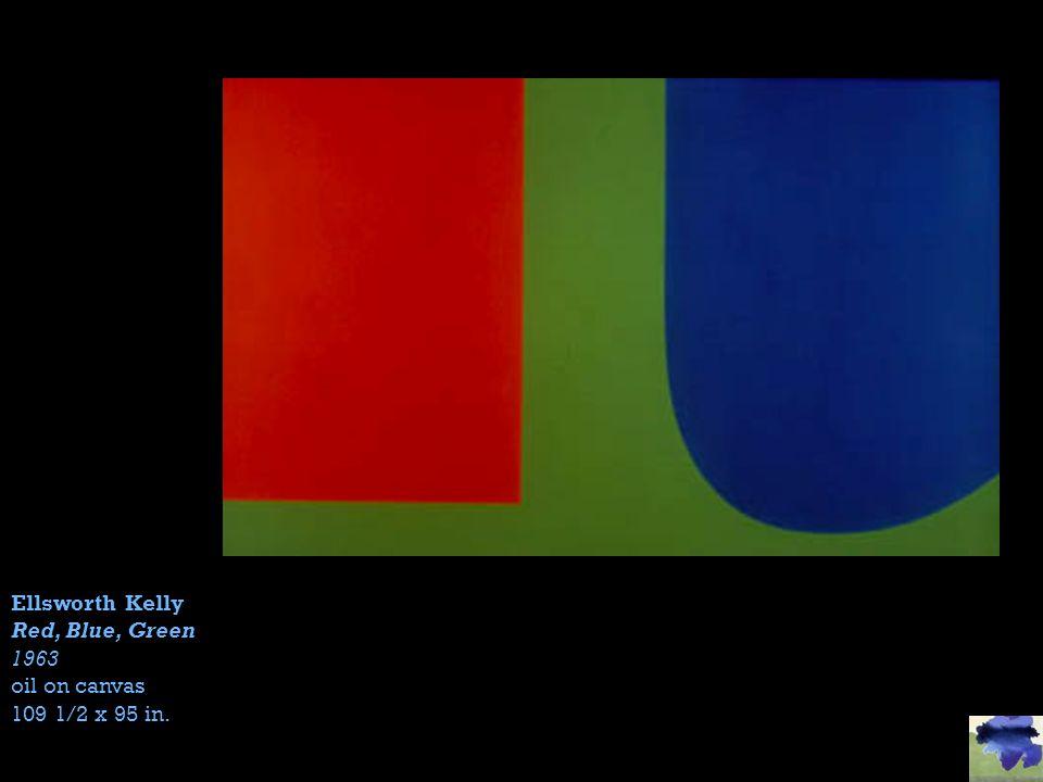 Ellsworth Kelly Red, Blue, Green 1963 oil on canvas 109 1/2 x 95 in.