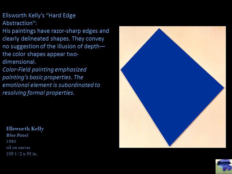 Ellsworth Kelly's Hard Edge Abstraction :