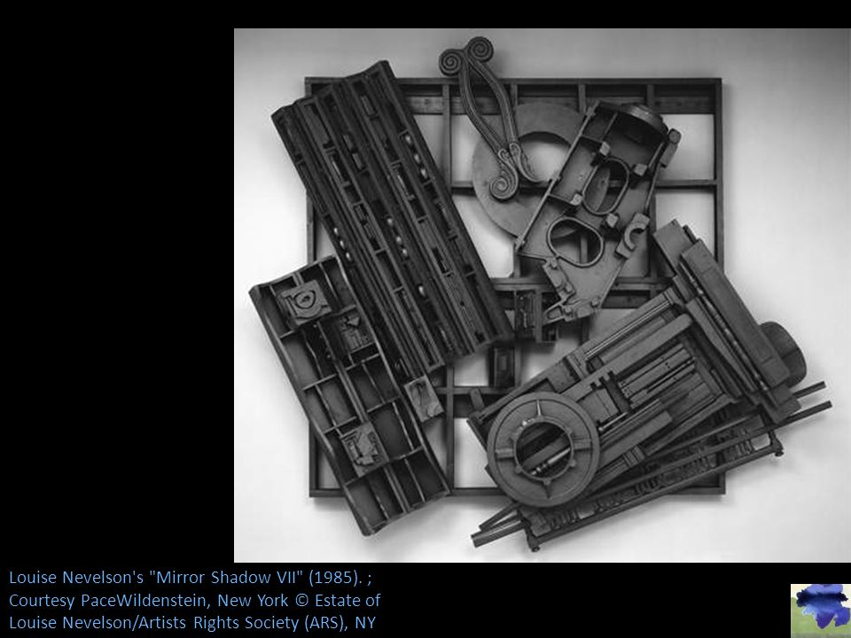 Louise Nevelson s Mirror Shadow VII (1985)