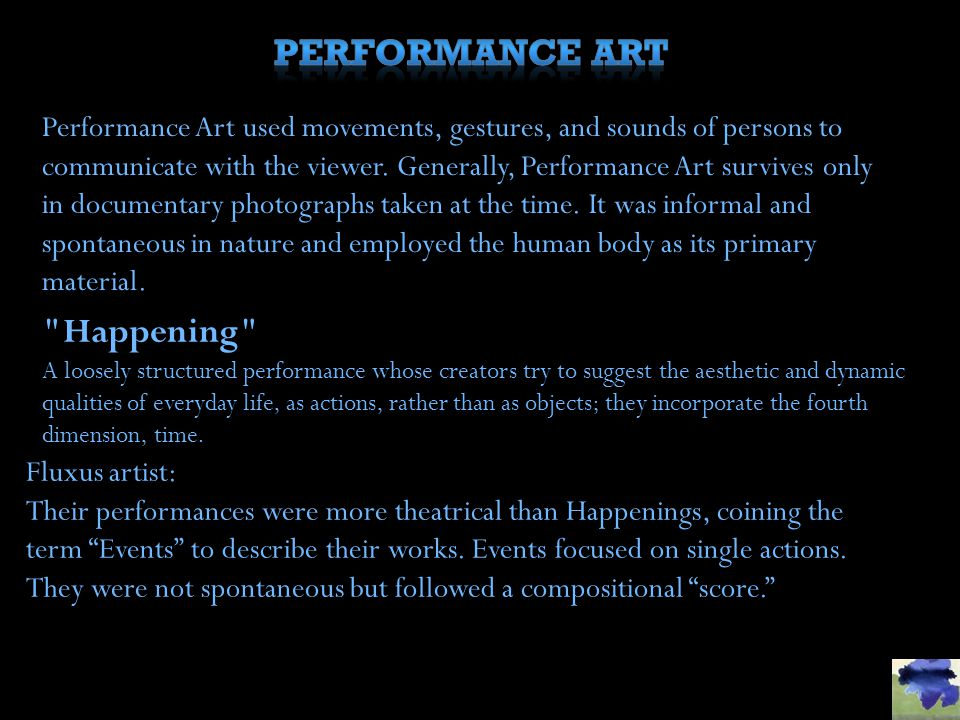 Performance Art Happening