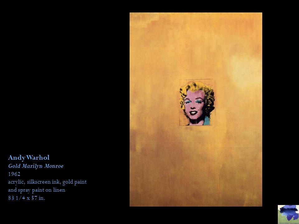 Andy Warhol Gold Marilyn Monroe 1962