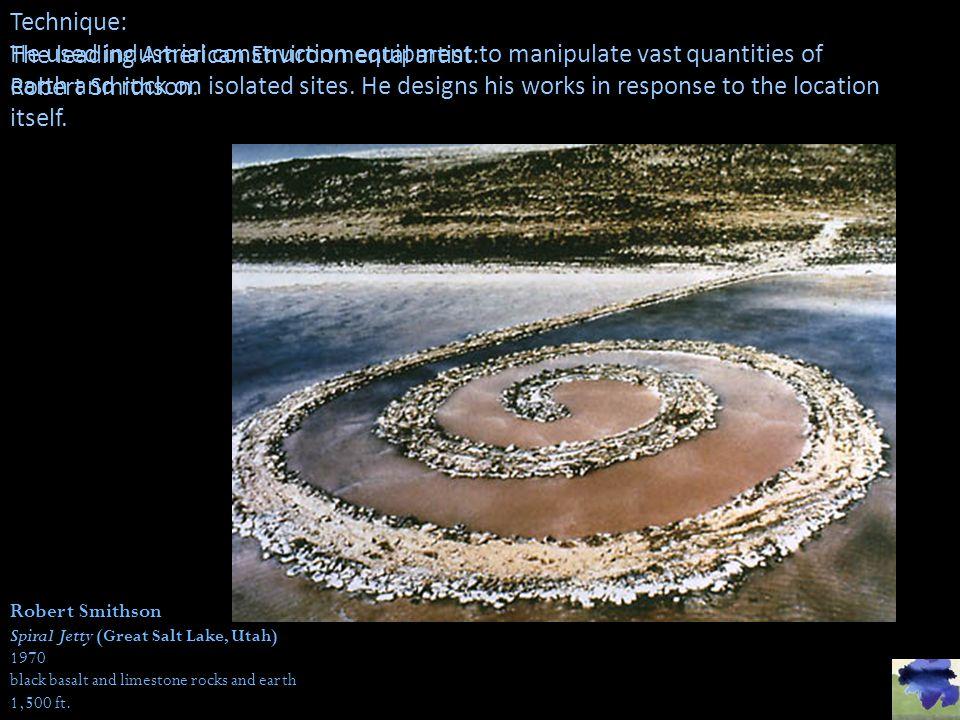 The leading American Environmental artist: Robert Smithson.
