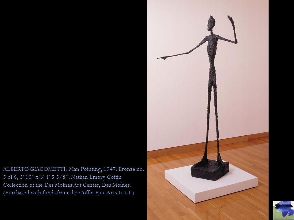 ALBERTO GIACOMETTI, Man Pointing, 1947. Bronze no