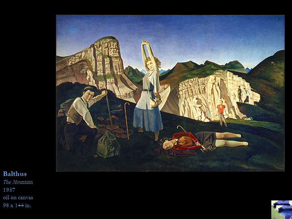Balthus The Mountain 1937 oil on canvas 98 x 144 in.