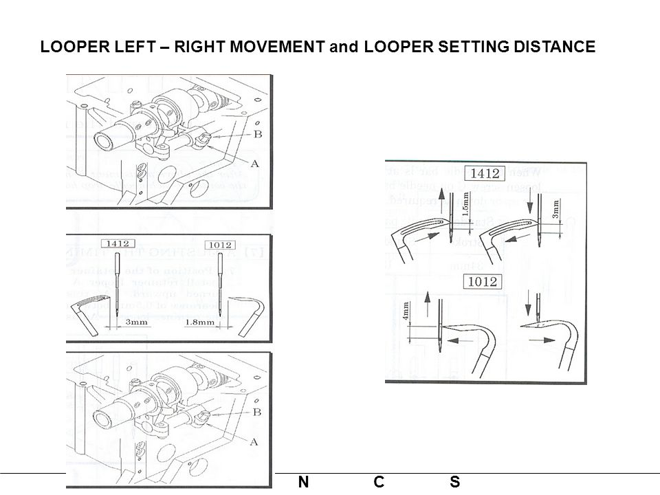 LOOPER LEFT – RIGHT MOVEMENT and LOOPER SETTING DISTANCE