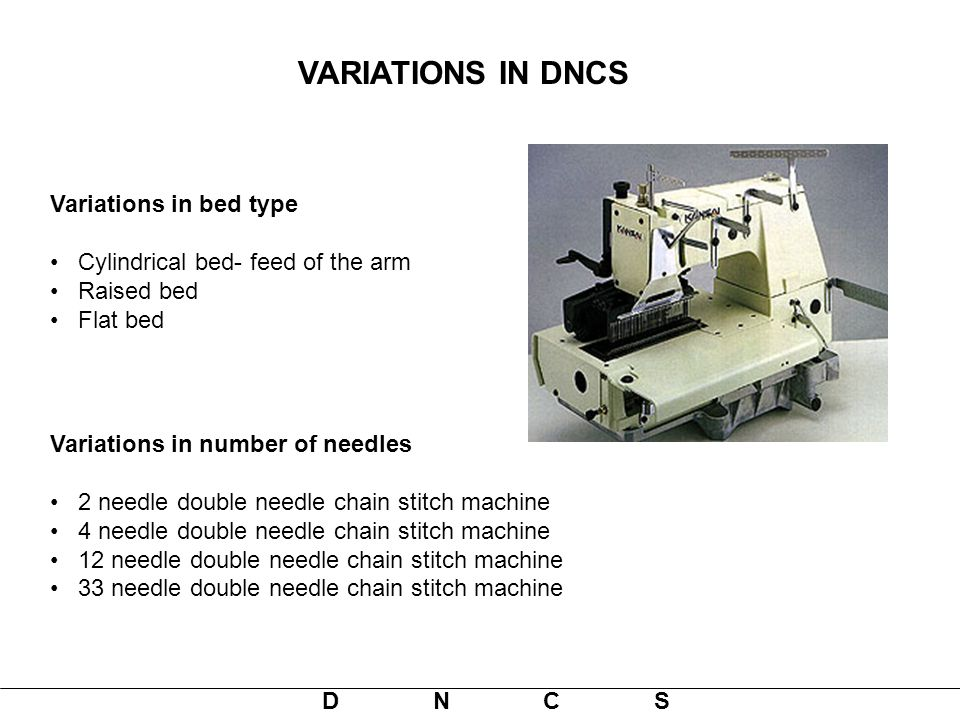 VARIATIONS IN DNCS Variations in bed type