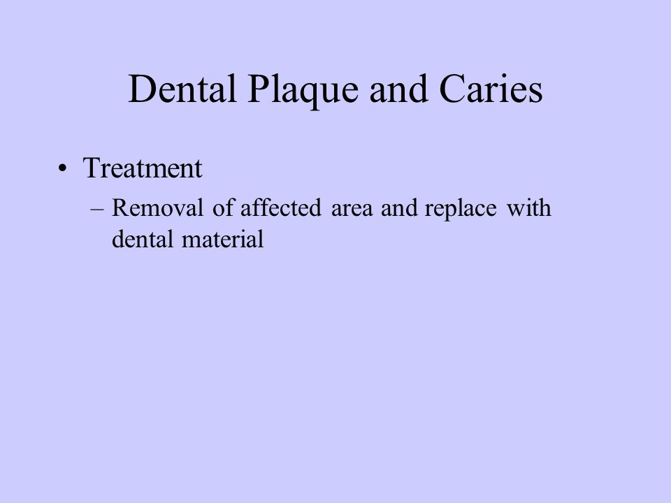 Dental Plaque and Caries