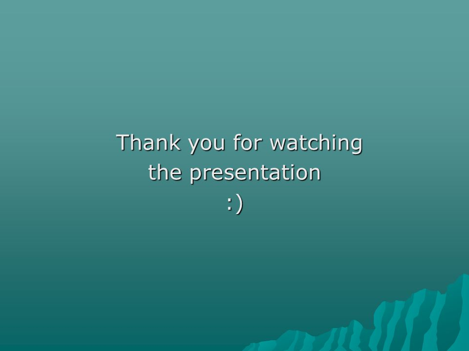Thank you for watching the presentation :)