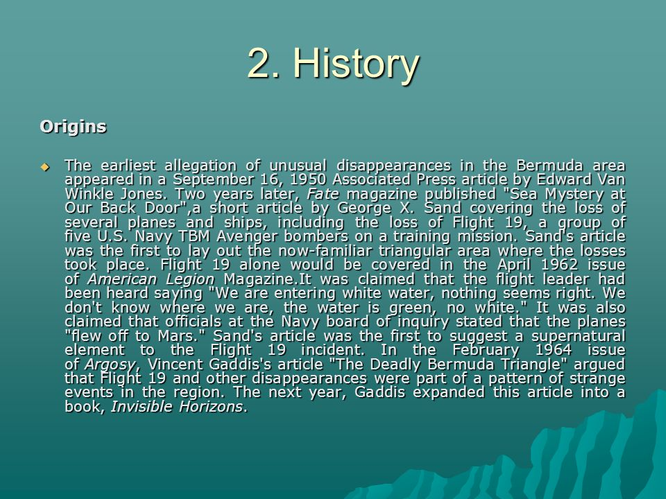 2. History Origins.