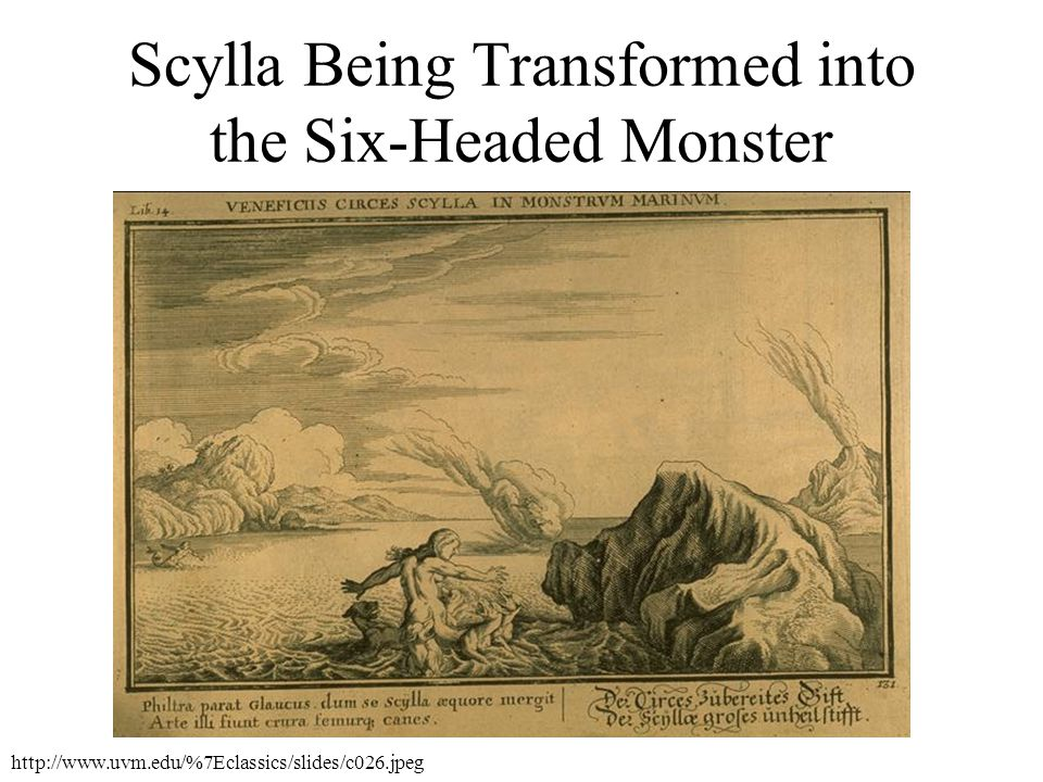 Scylla Being Transformed into the Six-Headed Monster