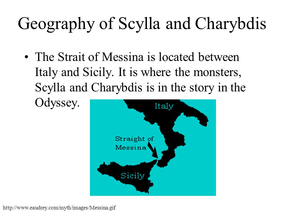 Geography of Scylla and Charybdis