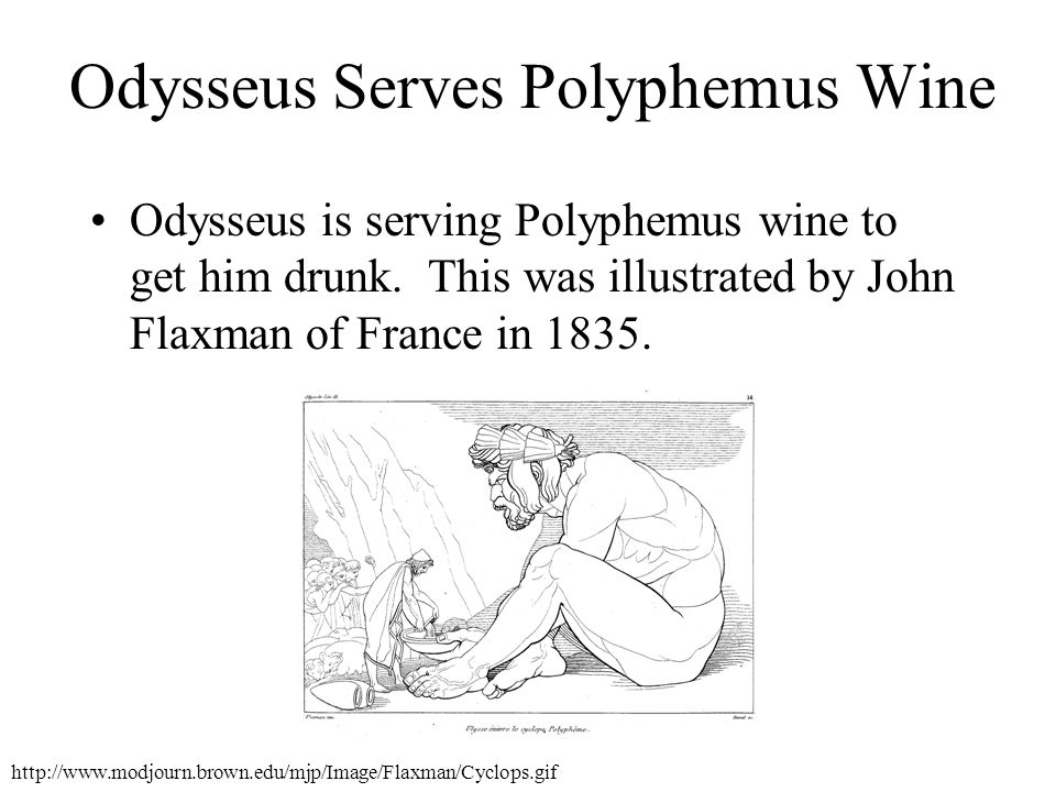Odysseus Serves Polyphemus Wine