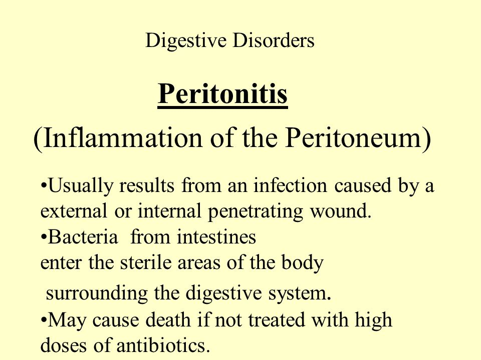 (Inflammation of the Peritoneum)
