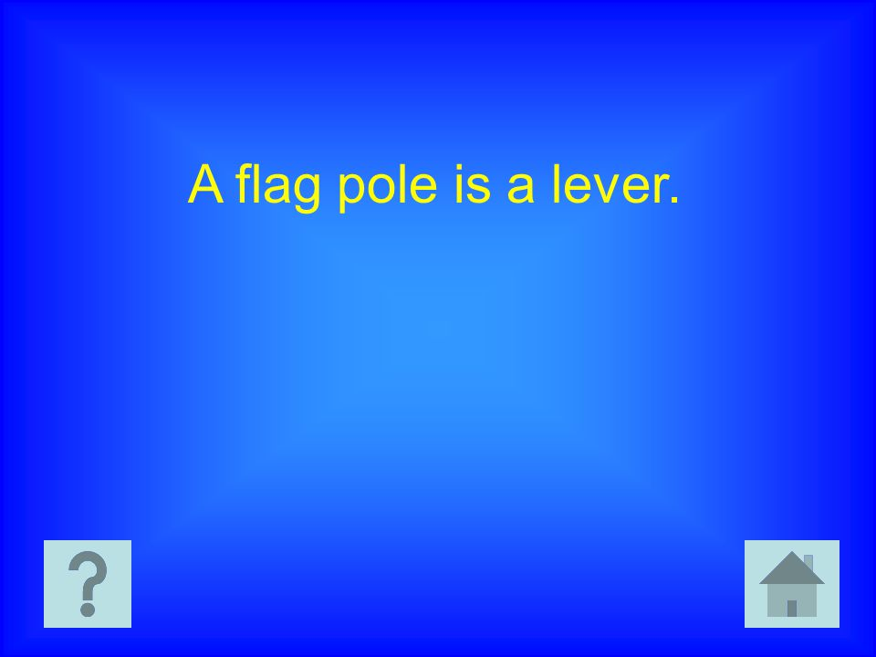 A flag pole is a lever.