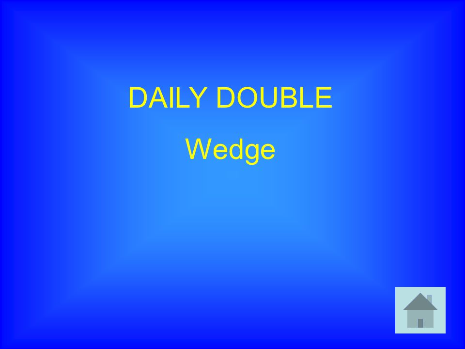 DAILY DOUBLE Wedge