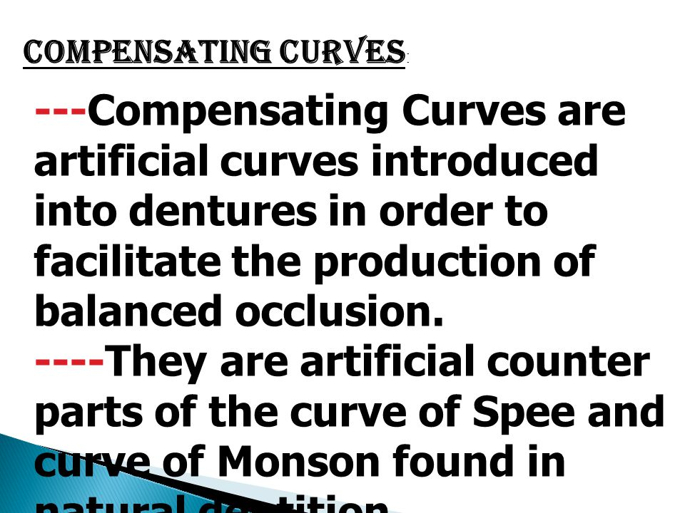 Compensating Curves: