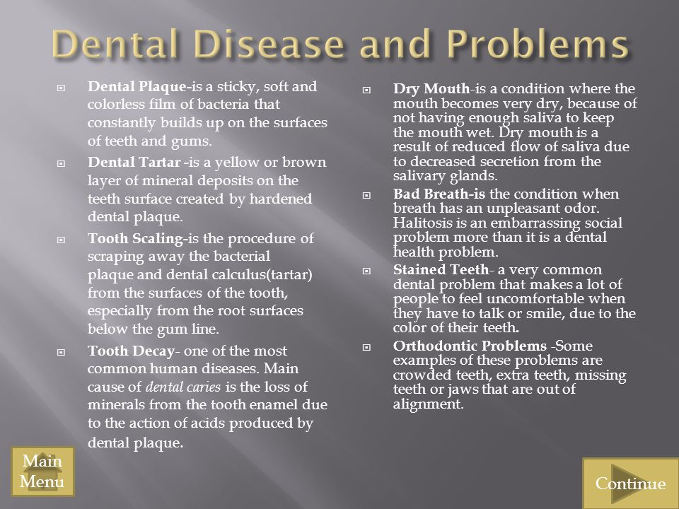 Dental Disease and Problems