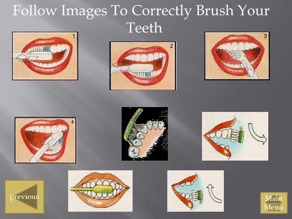 Follow Images To Correctly Brush Your Teeth