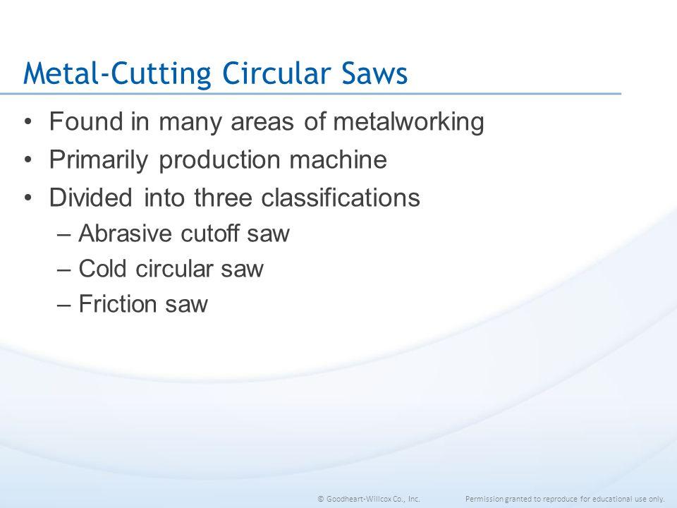 Metal-Cutting Circular Saws