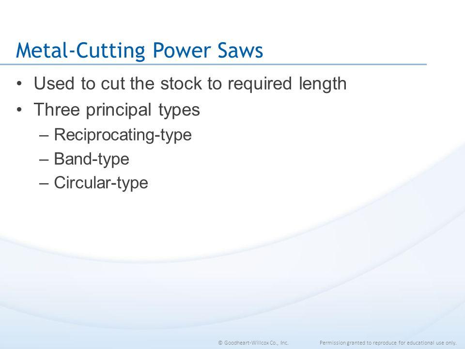 Metal-Cutting Power Saws