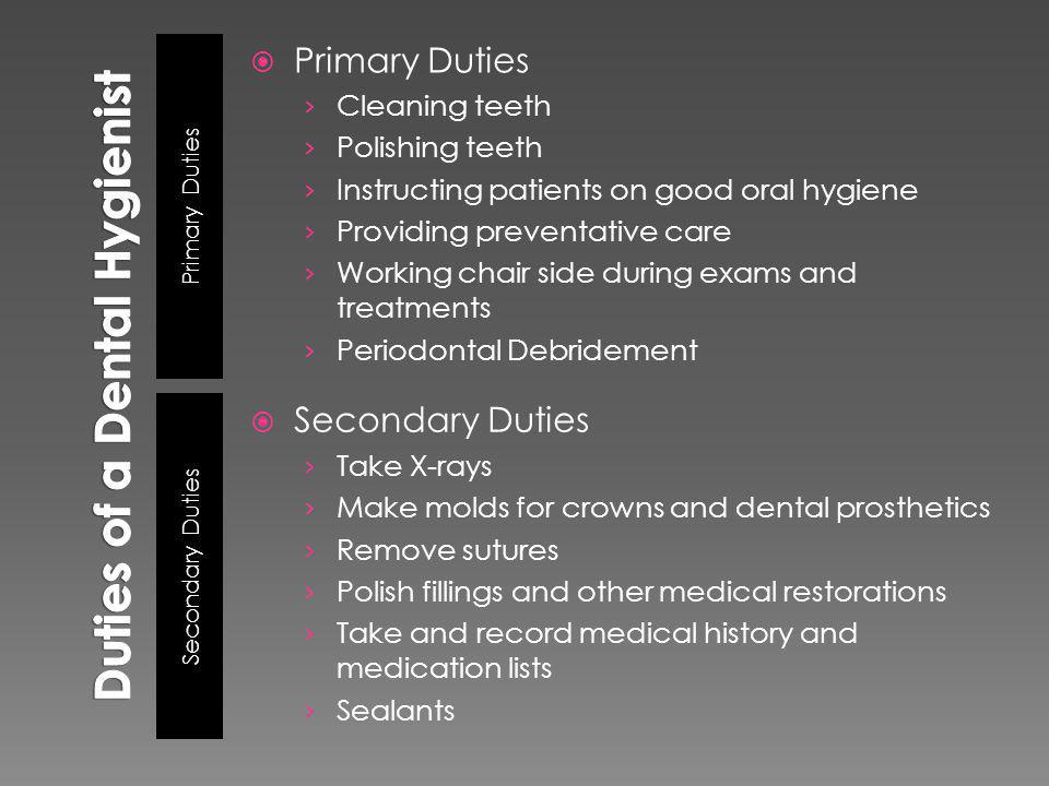 Duties of a Dental Hygienist