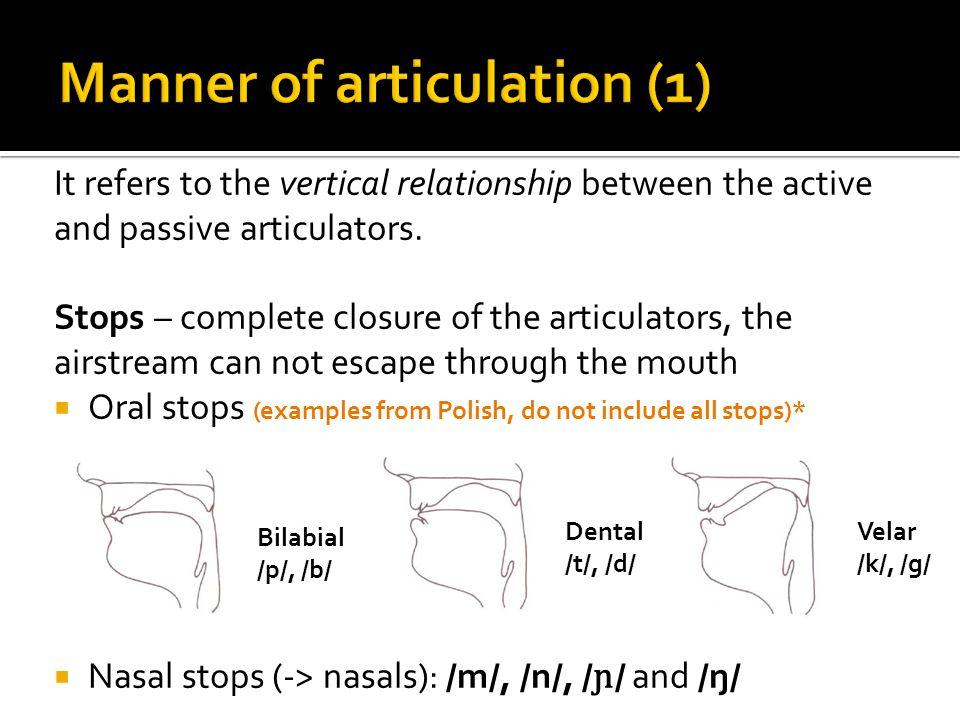 Manner of articulation (1)