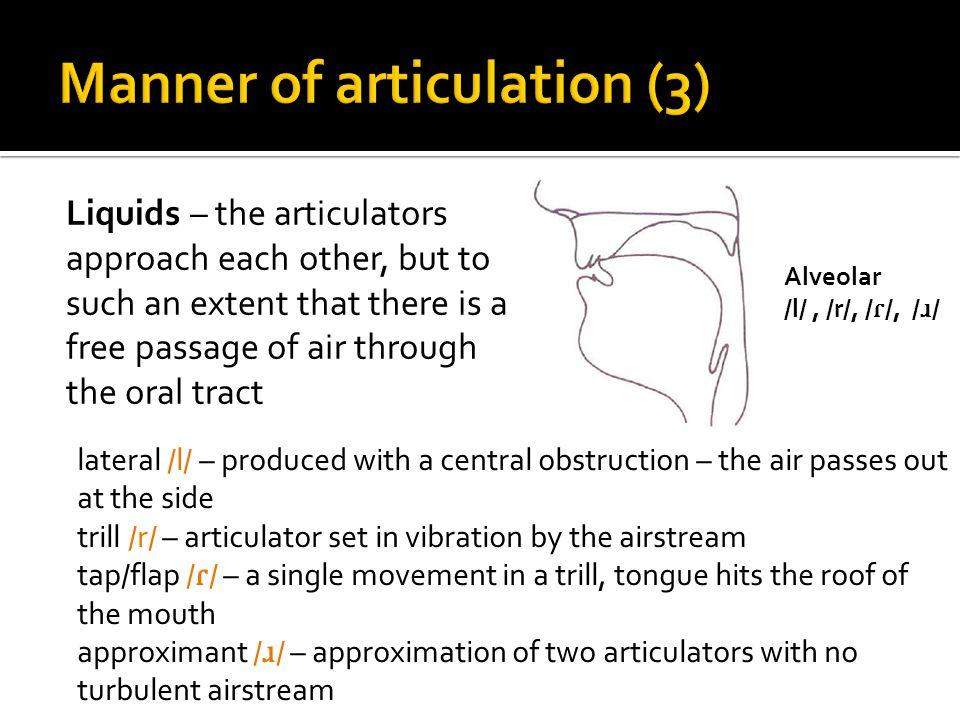 Manner of articulation (3)