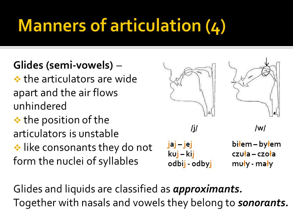 Manners of articulation (4)