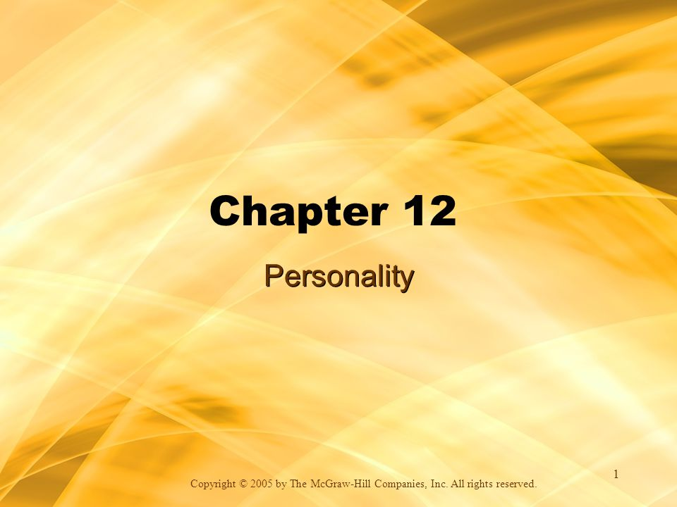 Chapter 12 Personality 1-