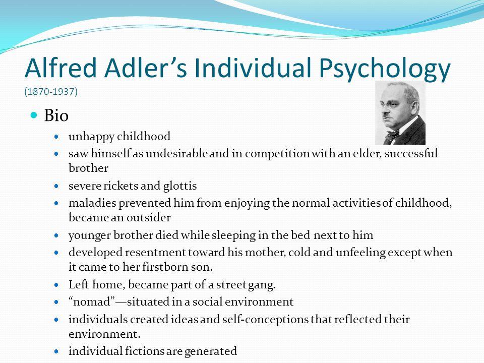 Alfred Adler's Individual Psychology (1870-1937)