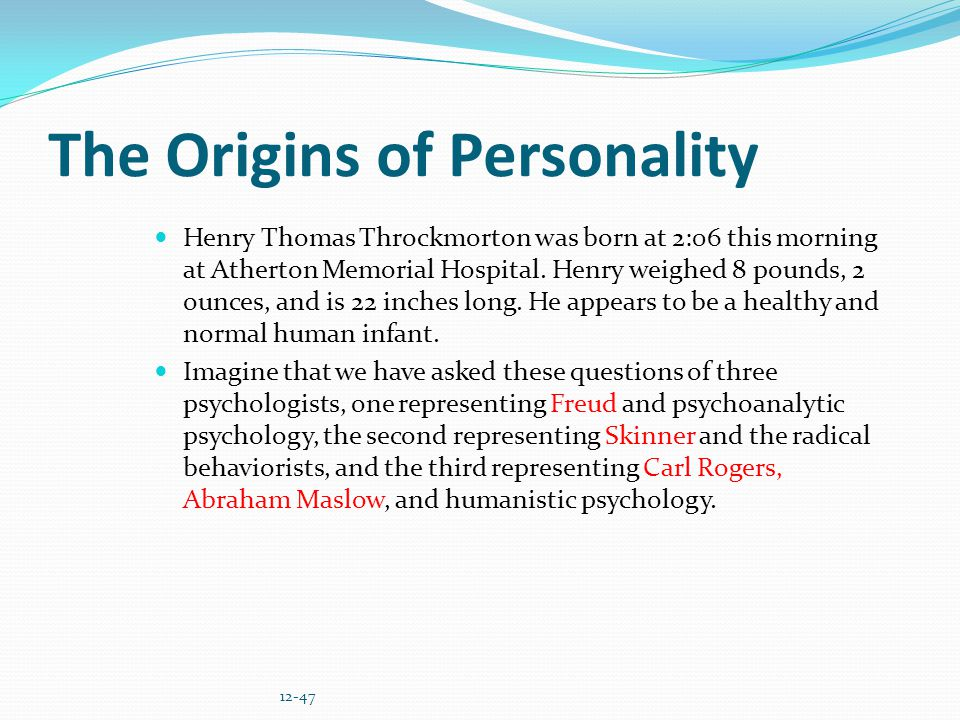 The Origins of Personality