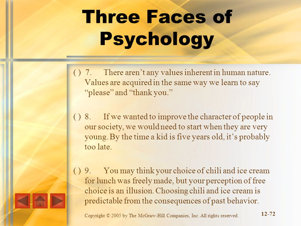 Three Faces of Psychology