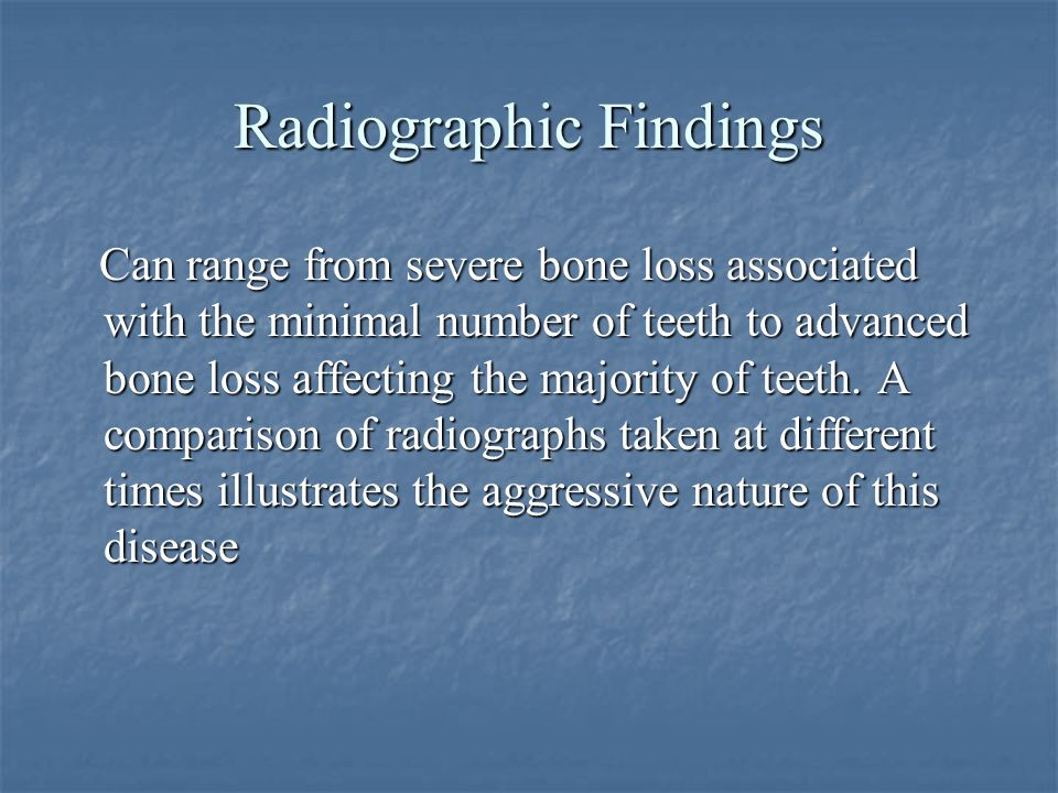 Radiographic Findings