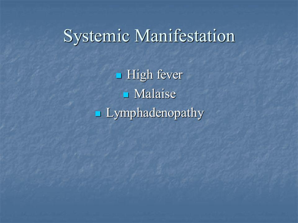 Systemic Manifestation