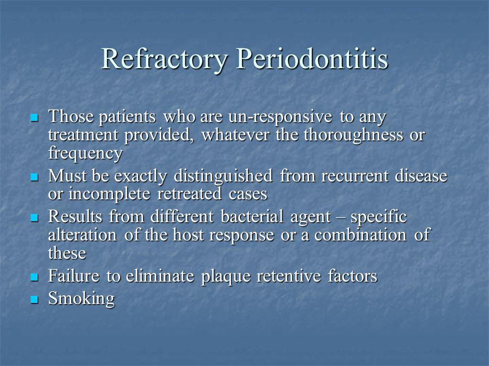 Refractory Periodontitis