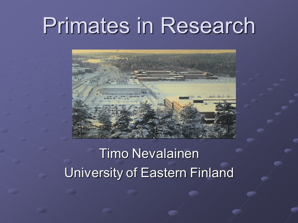 Timo Nevalainen University of Eastern Finland