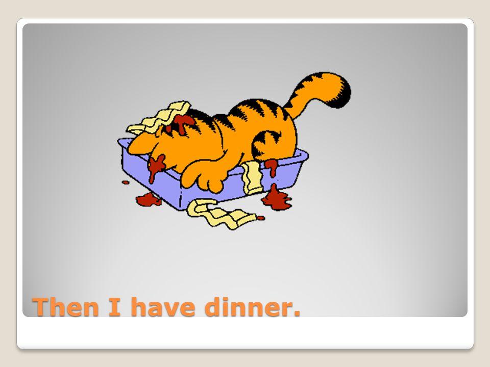Then I have dinner.