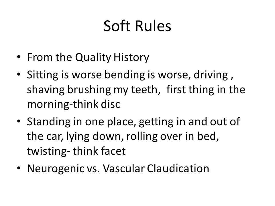 Soft Rules From the Quality History