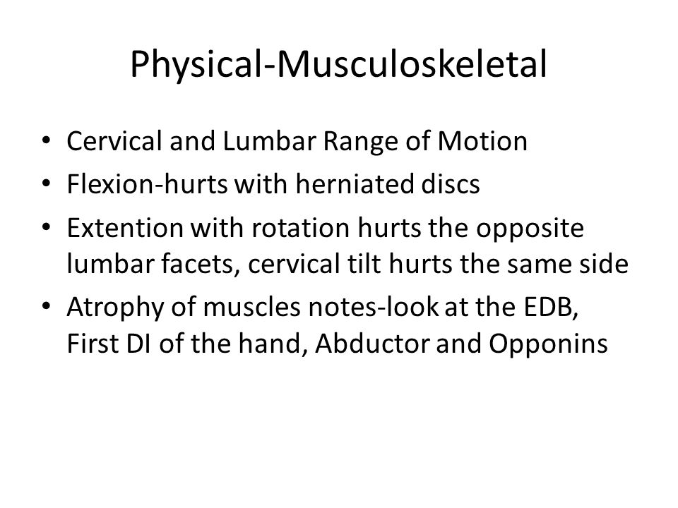 Physical-Musculoskeletal
