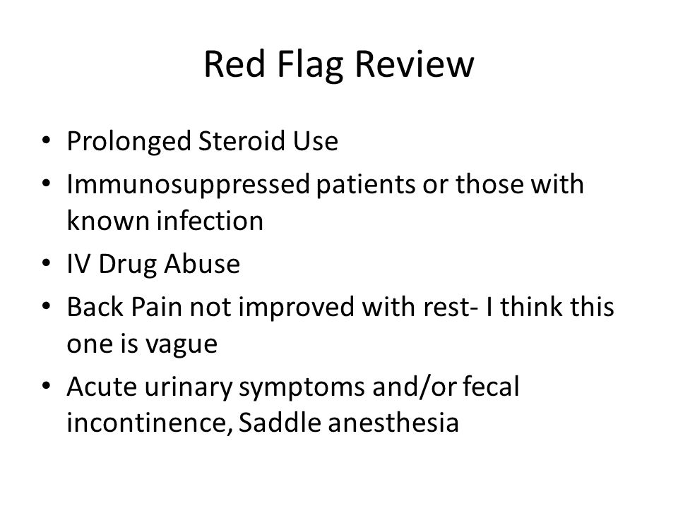 Red Flag Review Prolonged Steroid Use