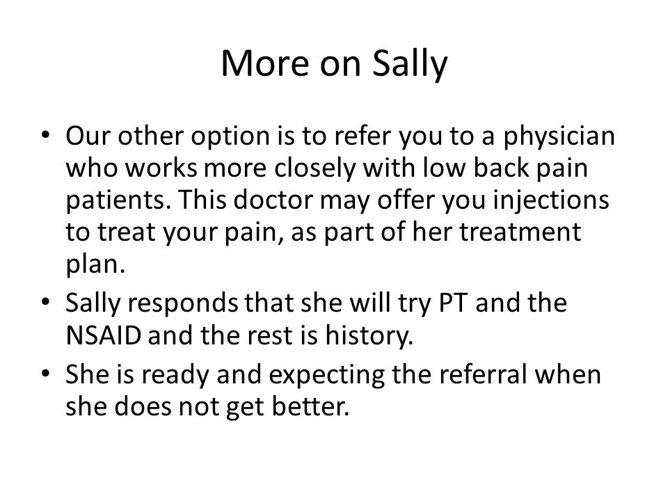 More on Sally